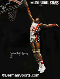 Julius Erving Converse poster photograph by Larry Berman