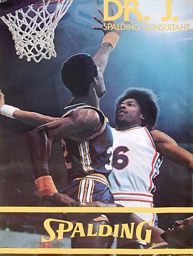 "Julius ""Dr J"" Poster for Spalding by Larry Berman"